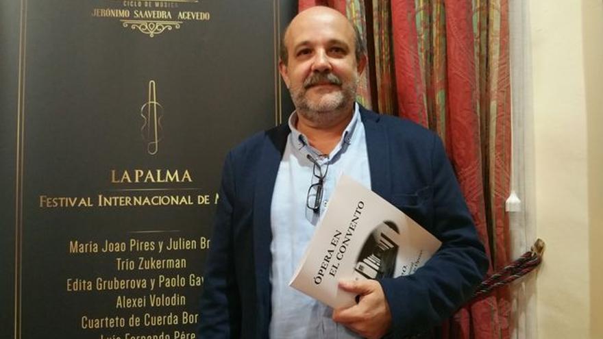 El tenro palmero Jorge Perdigón. Foto: LUZ RODRÍGUEZ.