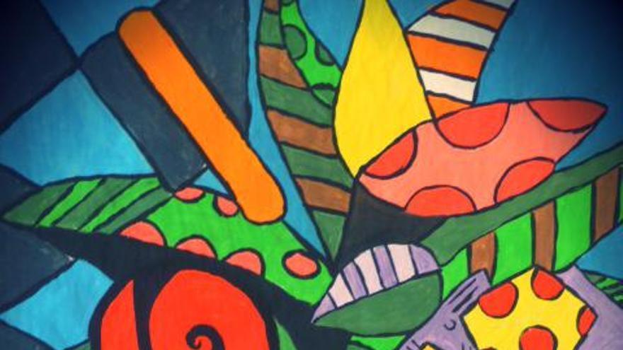 Uno de los cuadros de la exposición 'Explosión de colores' / FOTO: Fundación ARTEA.