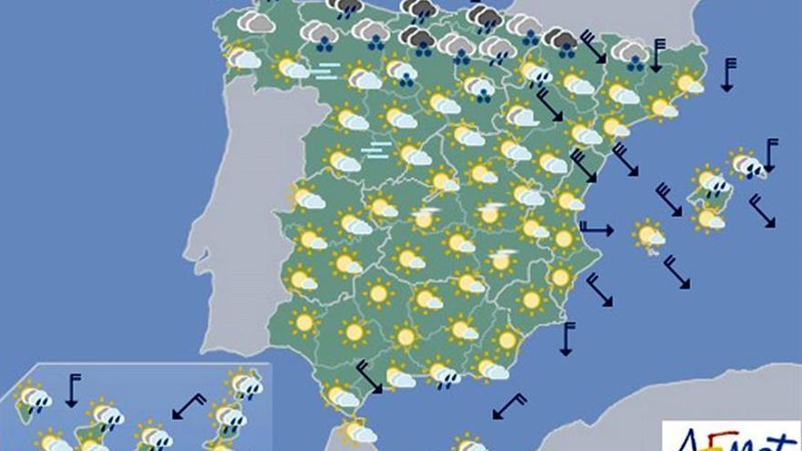 Hoy, nevadas en Cantábrico y Pirineos y descenso de temperaturas en general