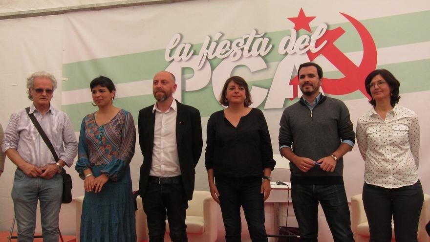 """Garzón (IU) confía en que Andalucía sea """"uno de los motores"""" de la construcción del proyecto de """"unidad popular"""""""