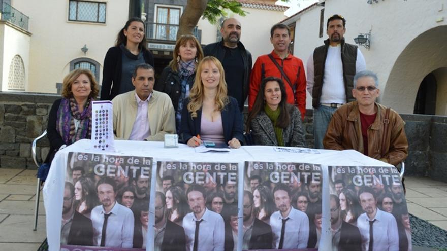 Presentación de Contigo Somos Podemos Canarias. FOTO: Iago Otero Paz.