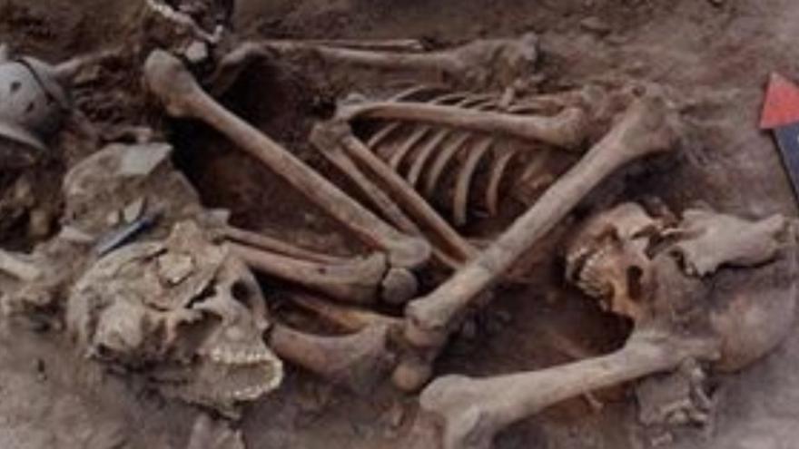 Restos óseos de la caravana de aliados de Hernán Cortés