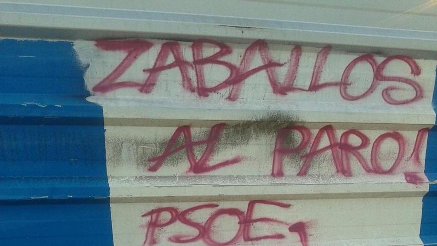 """PSE de Guipúzcoa denuncia pintadas """"ofensivas"""" contra su portavoz en Lasarte"""