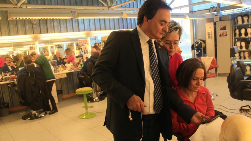 David Olivares (Josep Rull) y Mireia Portas (Carme Forcadell), siguiendo la declaración de Junqueras ante el Supremo
