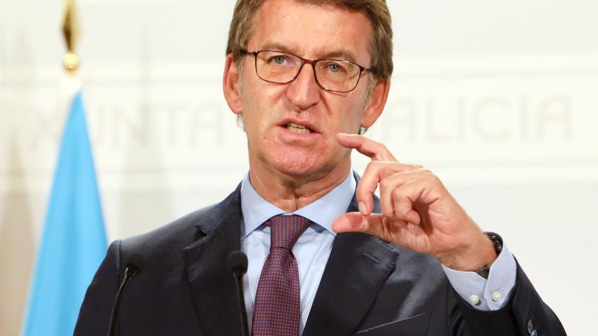 El presidente de la Xunta de Galicia, Alberto Núñez Feijoo. EFE/Xoán Rey.