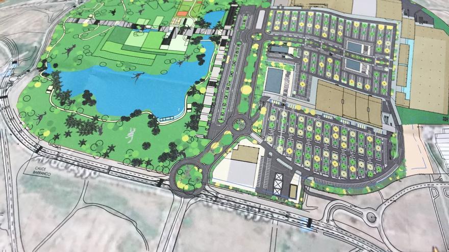 Proyecto de centro comercial de Adeje.