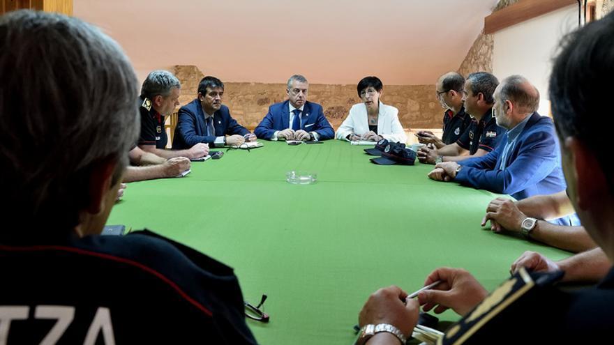 Reunión de la cúpula de la Ertzaintza con el lehendakari en las instalaciones de Berrozi