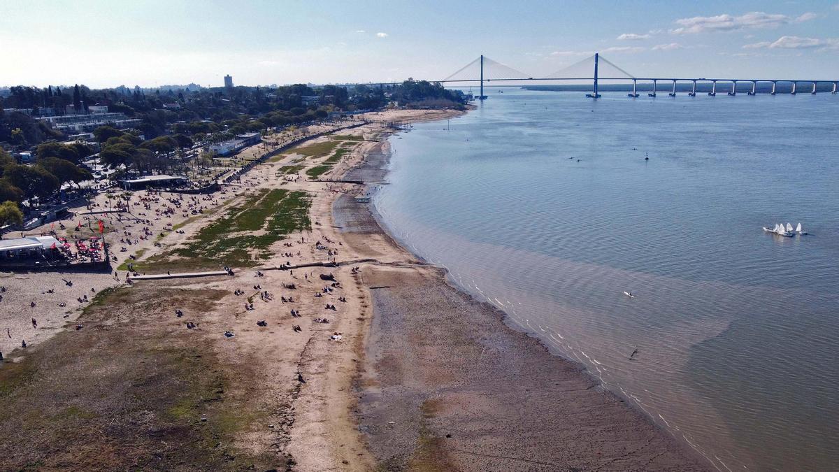 El Río Paraná sufre su bajante más importante en los últimos 77 años.