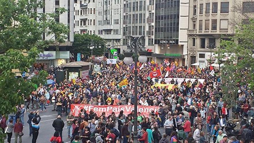 Manifestación del 25 d'Abril en Valencia.
