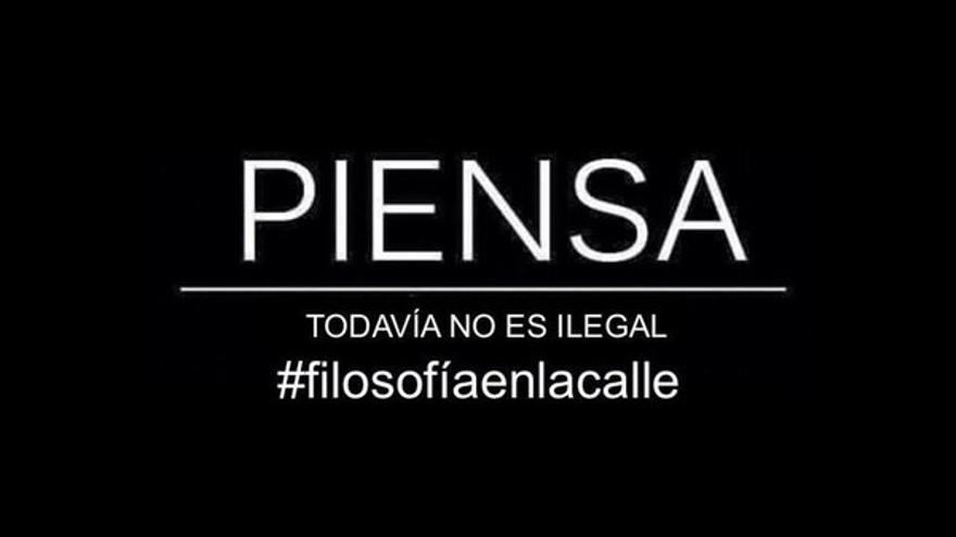 Campaña #Filosofiaenlacalle contra la Lomce