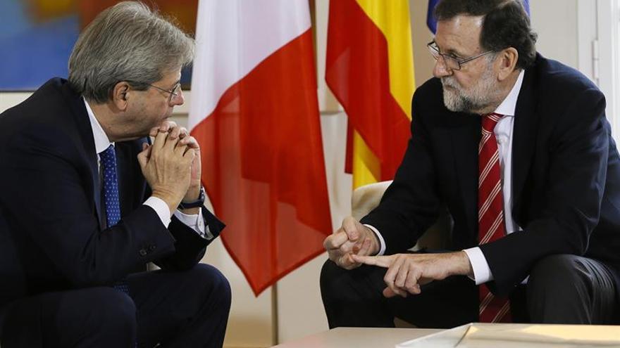 Gentiloni asistirá a la cumbre convocada por Rajoy con líderes del sur de Europa