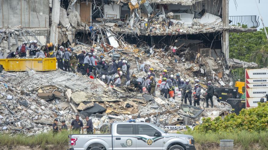 El número de víctimas del derrumbe en Miami-Dade se mantiene en 11