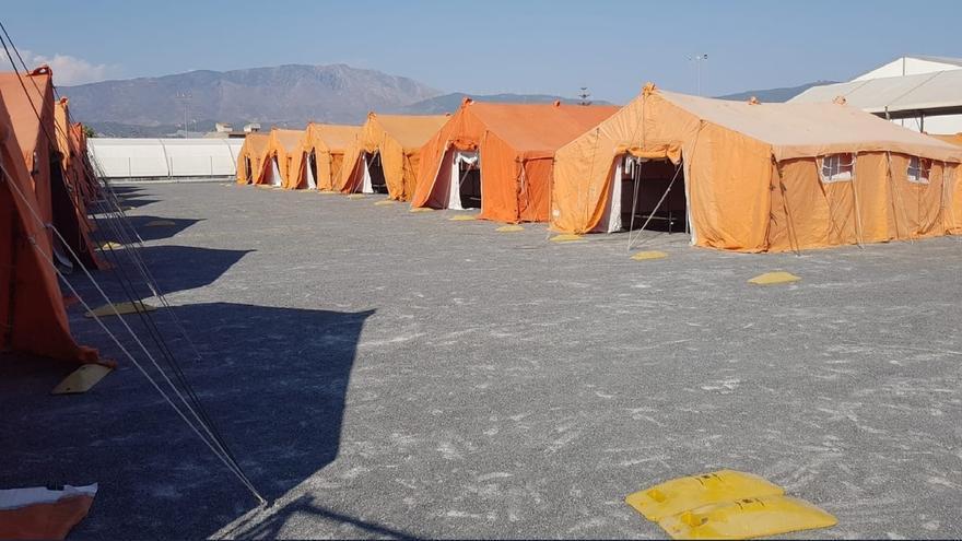 Ya está instalado el nuevo CATE de Motril con unas 250 plazas para atender a inmigrantes