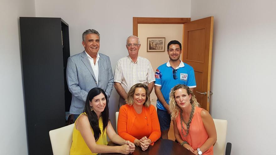 Miembros de la gestora de laFederación de Asociaciones de Empresarios de La Palma.