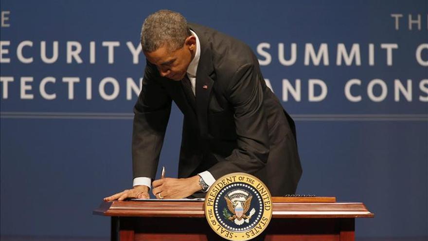 El presidente de Estados Unidos, Barack Obama, en un acto sobre ciberseguridad en Palo Alto, California, el pasado viernes./ EFE.