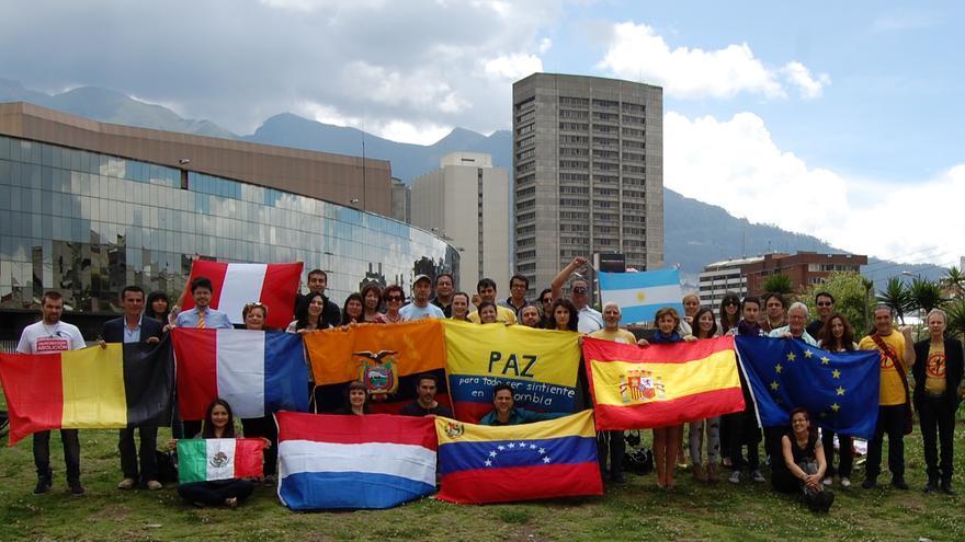 Miembros de la Red Internacional Antitauromaquia, presentada en Quito (Ecuador)