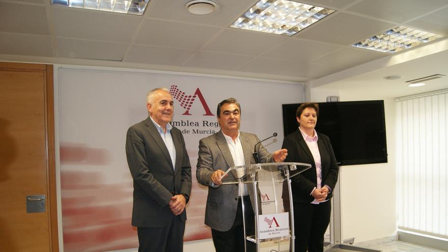 Jesús Navarro y González Tovar en la rueda de prensa posterior a las comparecencias