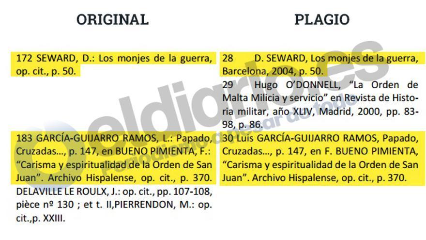 Copia y pega de las notas al pie del cónsul de Portugal en Málaga.