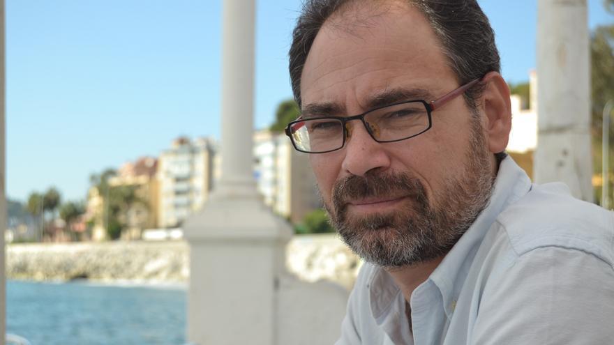 Alberto Montero, durante la entrevista // Foto: N.C.