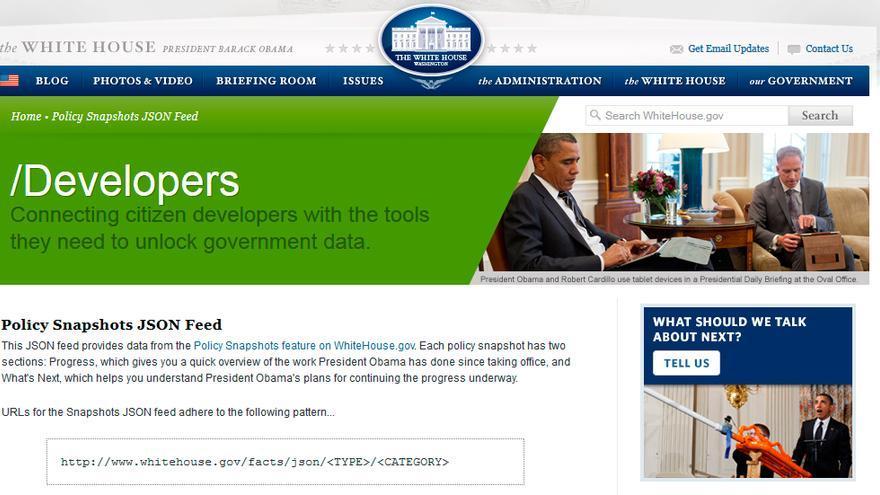 Una de las APIs que el Gobierno de Estados Unidos tiene abiertas (Foto: Casa Blanca)