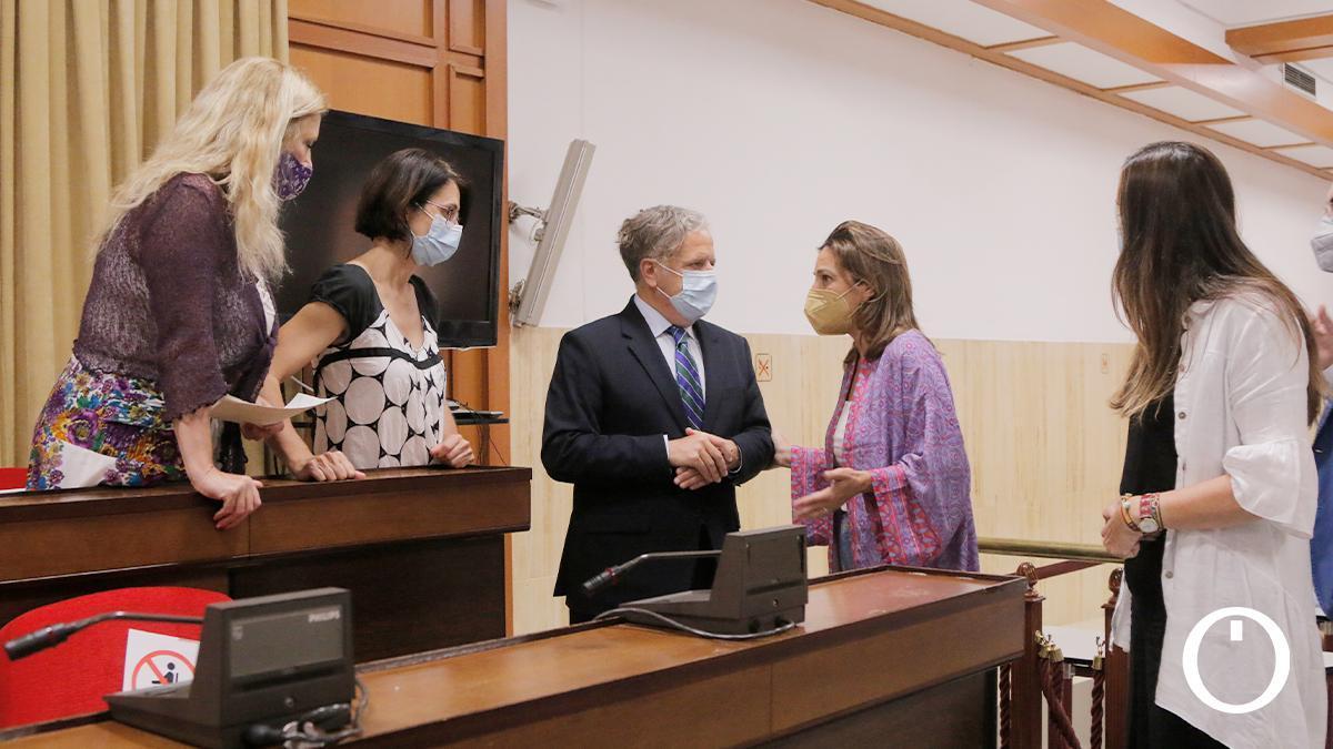Concejales de Podemos, IU, PP, PSOE y Vox en el Pleno de junio
