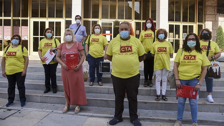 Imagen de una protesta de CTA ante el Ayuntamiento.