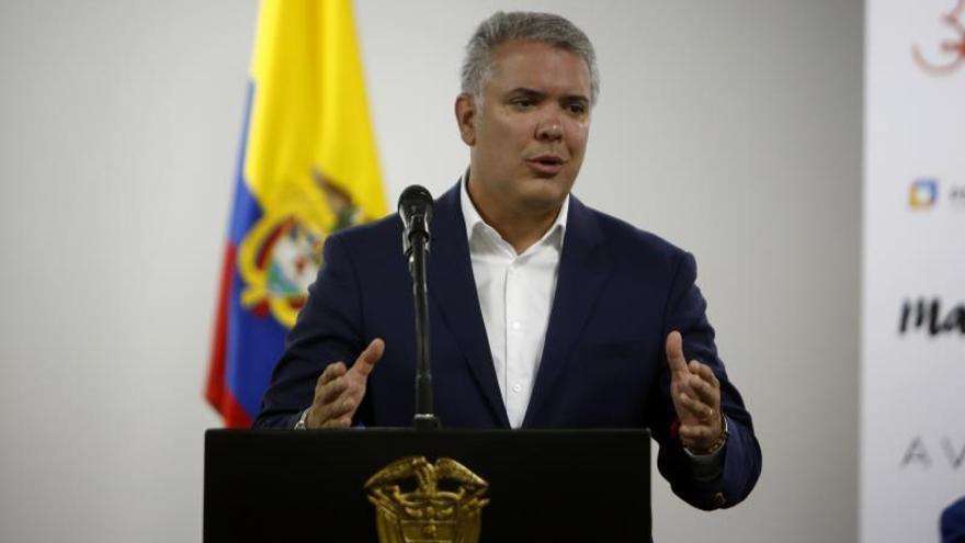 En la imagen, el presidente de Colombia, Iván Duque.