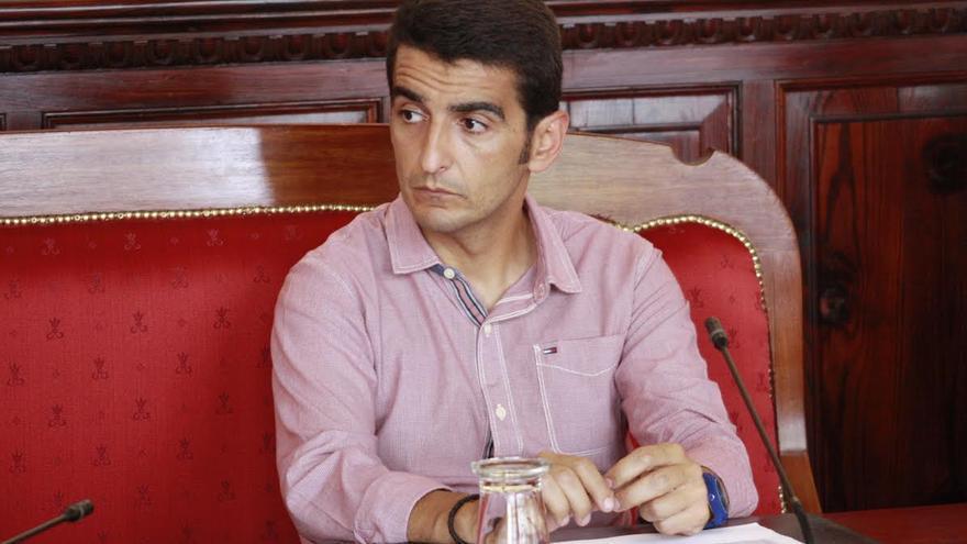 Iván Díaz, concejal del PP en el Ayuntamiento de Santa Cruz de La Palma.