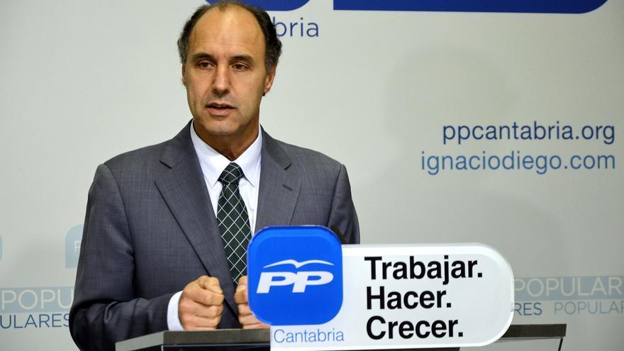 El candidato del PP a la reelección como presidente de Cantabria, Ignacio Diego.