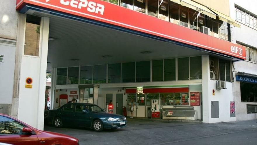 Foto de una gasolinera de Cepsa en Madrid.
