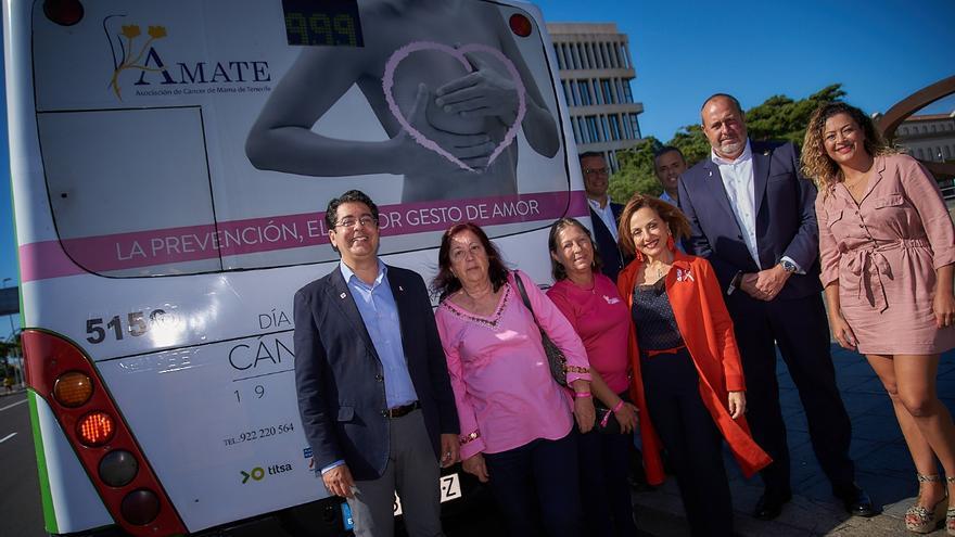 Campaña del Cabildo de Tenerife por el Cáncer de mama.