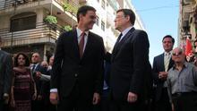 Pedro Sánchez con Ximo Puig el día de la investidura de este último como presidente de la Generalitat Valenciana.
