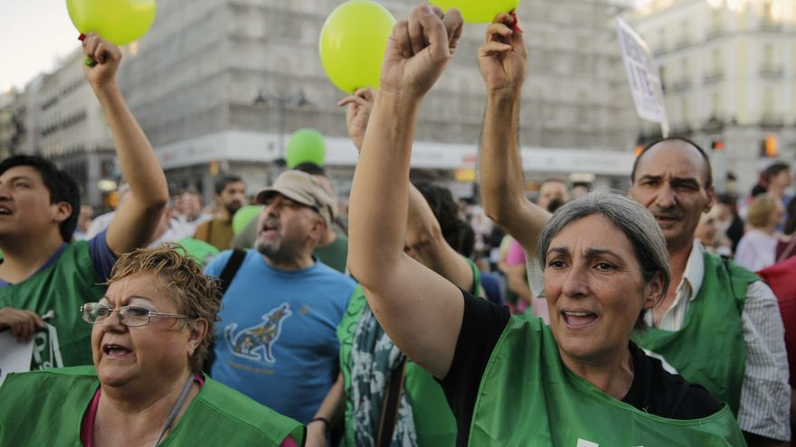 Manifestación de la PAH en Madrid