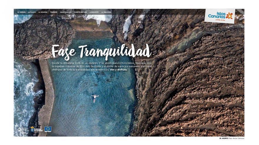 Imagen promocional de la campaña de Turismo 'Entra en fase tranquilidad' de Canarias