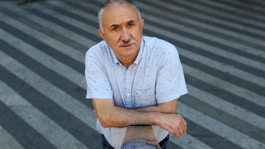 Pepe Álvarez, líder de UGT, instantes previos a la entrevista en eldiario.es.