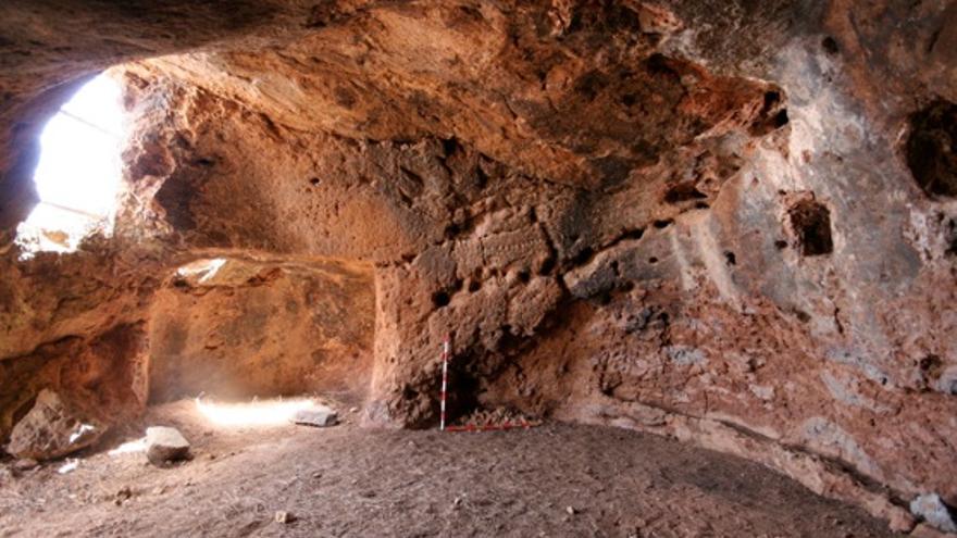 Imagen de la cavidad número 2 de Cuevas del Caballero