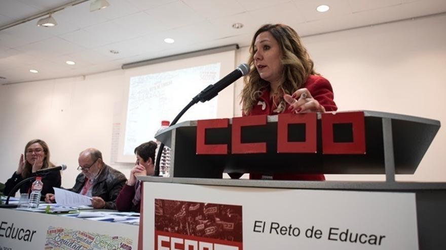Conchi Sánchez, reelegida por unanimidad secretaria general de la Federación de Enseñanza de CCOO