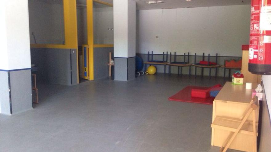Una de las aulas de la escuela infantil Las Nubes, en el distrito Retiro (Madrid).