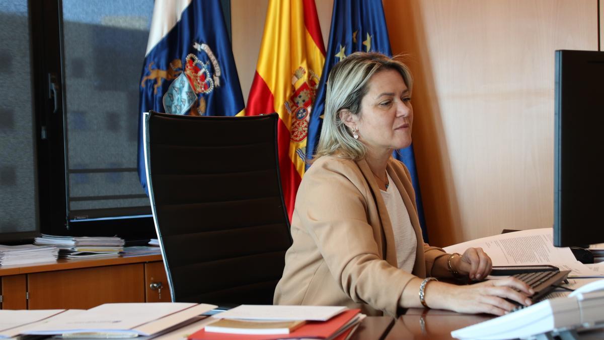 Alicia Vanoostende durante la Conferencia Sectorial.