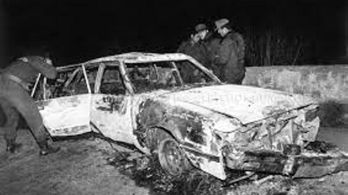 El auto de Pinochet tras el atentado de 1986