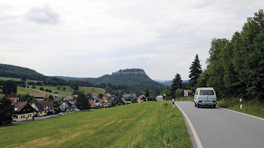 Llegando a Königstein.