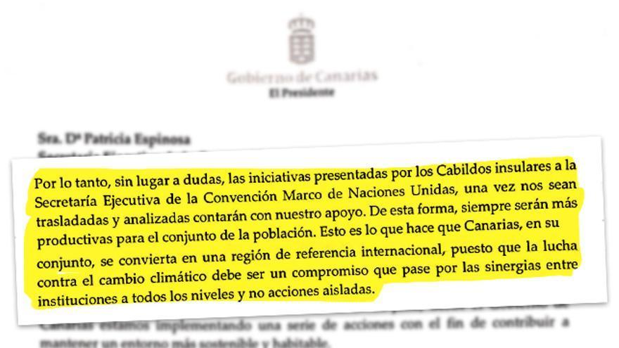 El presidente de Canarias boicotea el primer centro de la ONU contra el cambio climático en España