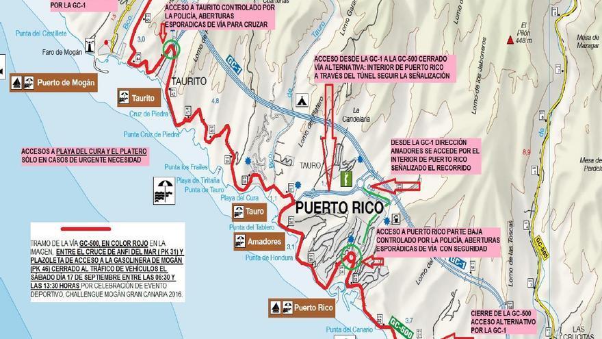 Restricciones y acceso del Challenge Mogán Gran Canaria.