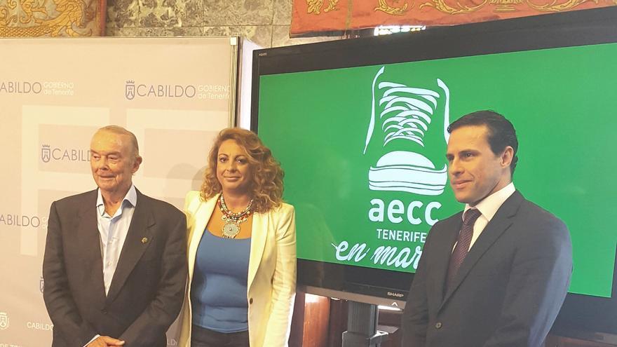 Presentación en el Cabildo de la II Carrera AECC 'Tenerife en Marcha'