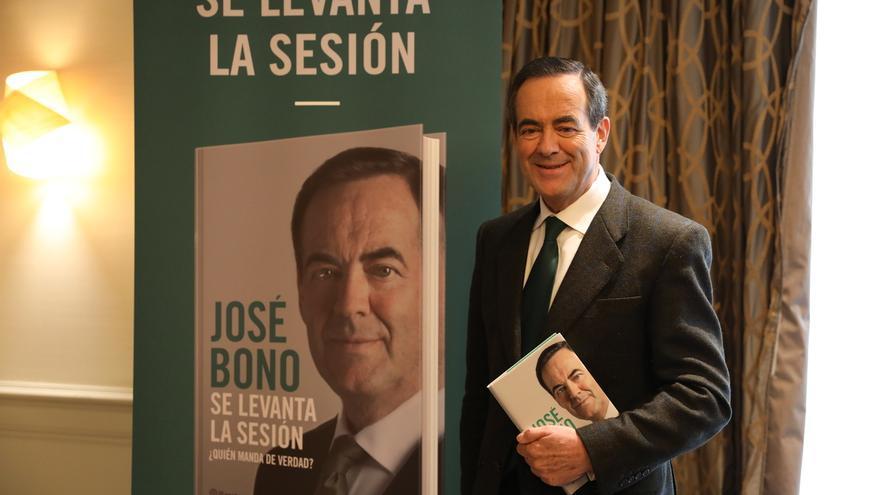 José Bono durante la presentación de su libro de memorias.