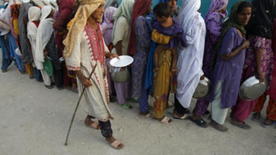 Desplazados por las inundaciones en Pakistán