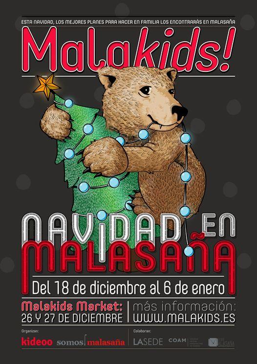 Cartel de Malakids! especial Navidad en Malasaña
