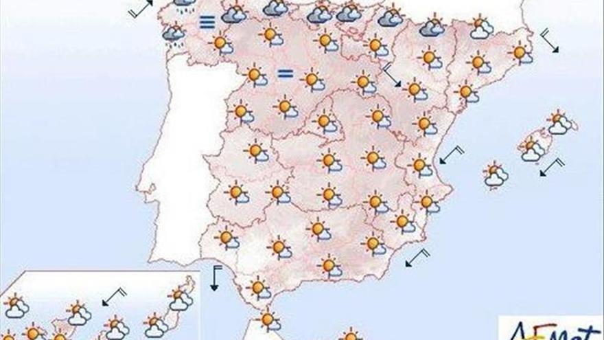 Hoy bajan las temperaturas en norte y este peninsular y suben en el resto