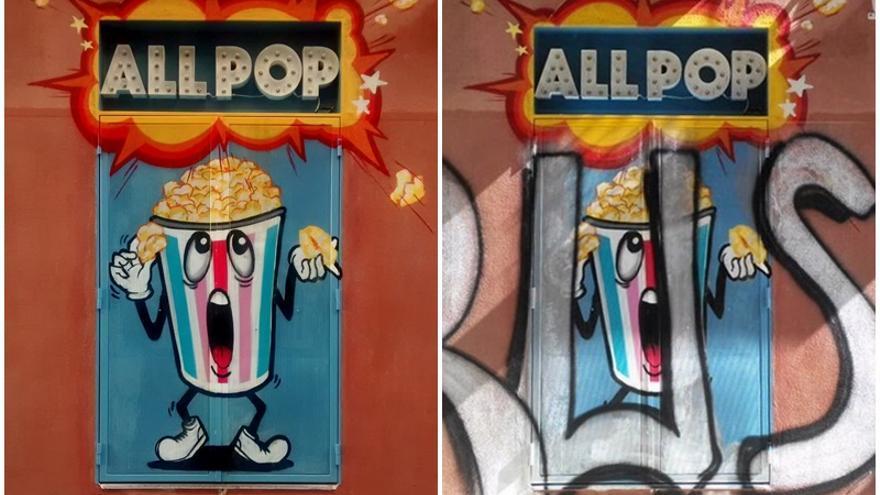 Decoración de la tienda All Pop, antes y después de ser vandalizada | SOMOS MALASAÑA