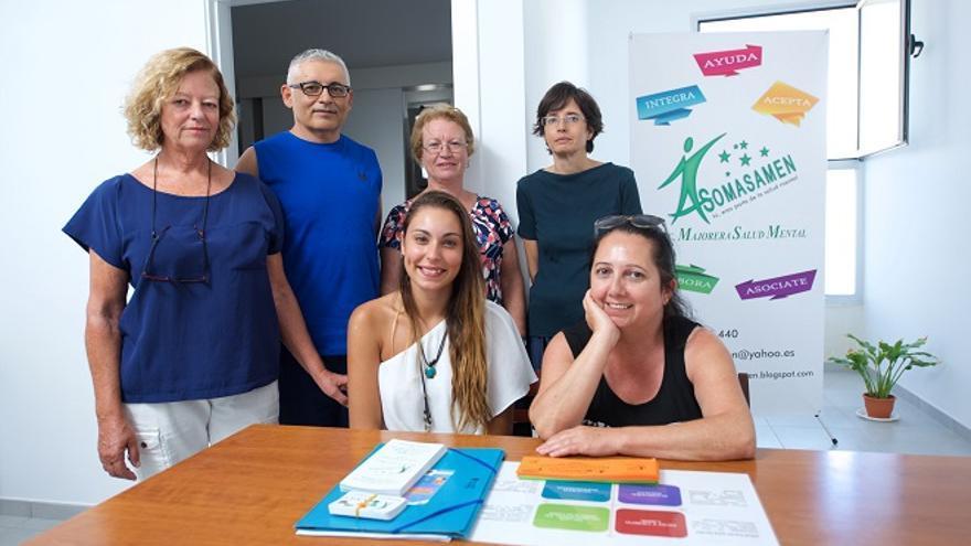 Representantes de la Asociación Majorera por la Salud Mental
